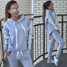 Casual Stylish Hooded Tracksuit Sports Top And Pants Set Cotton Cartoons Pattern