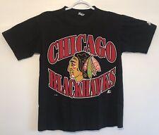vtg Vintage 90s Starter Chicago Blackhawks NHL Hockey T Shirt Small