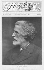 George Meredith ENGLISH Author & POETA-antica stampa fotografica 1903