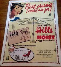 Hills Hoist, Metal / Tin, Sign / Plaque, Advertising, New