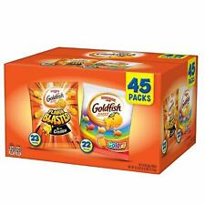 45 Pack- Pepperidge Farm Goldfish Baked Cheddar Snack Crackers Variety Pack, 26g