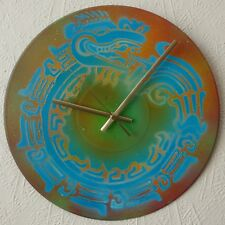 record wall clock,..PEACE SIGN.,.Tribal dragon......love.life.unity..Glastonbury