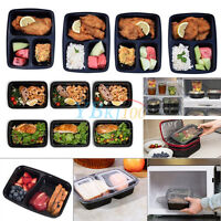 Stackable 10pcs Food Storage Containers+Lids For Salad Sandwich Bento Lunch Box