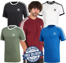 Adidas Hombre Verano Nuevo Camiseta Originals de Manga Corta 3 Rayas (5 Colores)