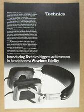 1978 Technics EAH-830 Linear-Drive Headphones photo vintage print Ad