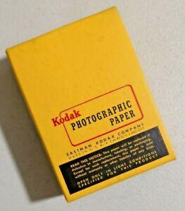 "VINTAGE 1950s KODAK VELOX PHOTOGRAFIC PAPER  F-2 2.5"" X 3.5"" NOS Sealed -- 4348"