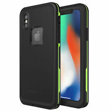 New Lifeproof FRE Case For iPhone X iPhone XS Waterproof Black Lime Authentic
