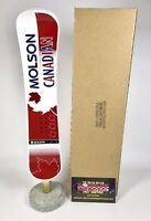 """Molson Canadian Snowboard Logo Beer Tap Handle 13.5"""" Tall - Brand New In Box!"""