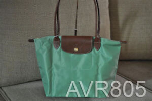Longchamp Le Pliage Small Long Handle Palmier Green Brand New With Tags