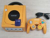 L613 Nintendo Gamecube Official Console Orange Japan GC w/controller memory x