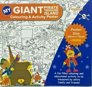 My Giant Colouring & Activity Poster - 99cm X 70cm - 4 Designs To Choose From