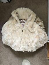 Tesco F&F Faux Fur Cape Coat 9-12 Months