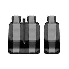 Sitzbezüge Schonbezüge Kunstleder Grau-schwarz 2+1 Neu für Citroen Fiat