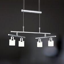 WOFI lámpara colgante LED MARIN 4 Lámparas Cromo Vidrio Blanco Ajustable 14,4 W