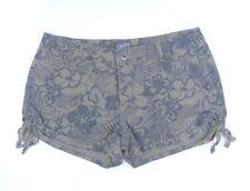 Bebop Linen Blend Shorts 5 Hunter Green Floral Camouflage VGC