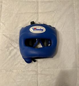 Winning Boxing Headgear FG-5000 EUC Blue Sz L (Grant, Sabas, Rival, Reyes, Fly)