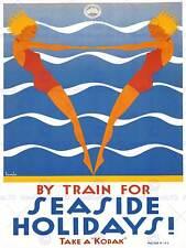 Travel Seaside Beach Sea Swim Holiday Australia Vintage Poster Art Print 1023py