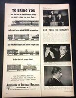 Life Magazine Ad ASSOCIATION OF AMERICAN RAILROADS 1952 Ad