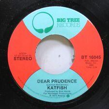 Rock 45 Katfish - Dear Prudence / Street Walkin' On Big Tree Records