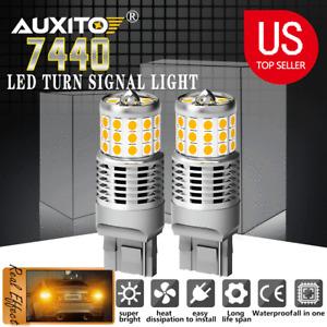 AUXITO 7440 Amber LED Turn Signal Light Bulbs No Hyper Flash Canbus Error Free E