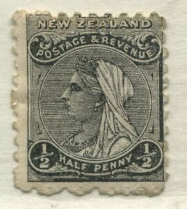 New Zealand 1895 1/2d perf 12 by 11 1/2 mint o.g. hinged