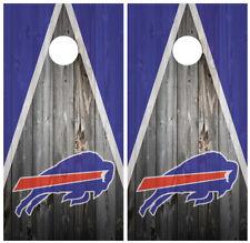 Buffalo Bills Wood Cornhole Board Wraps Skins Vinyl Laminated High Quality!