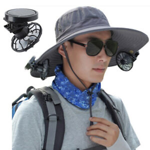 Portable Clip-on Hat   Solar Fan Outdoor Traveling Camping Sports