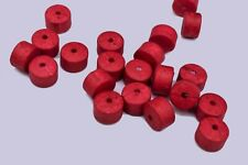 100 Vintage Red Round Tube Spacer Beads Crafts 10 mm