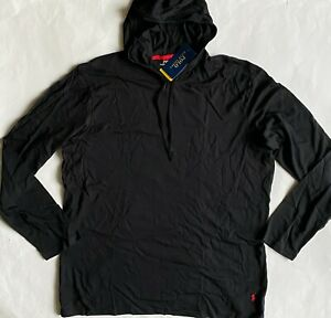 NWT Mens Polo Ralph Lauren Supreme Comfort Pony Logo Hooded Sleep Shirt Hoodie