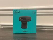 Logitech C270 HD Webcam, 720p, Video Calls, Built-in Microphone *IN HAND*