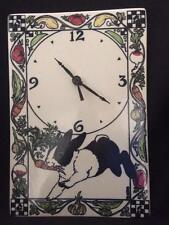 Vintage Santa Barbara Ceramic Design Bunny Rabbit Wall Clock