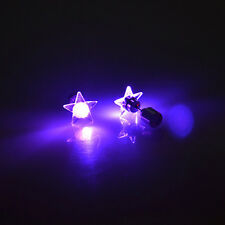 LED Star Earrings Light Up Bling Ear Studs For Club KTV Happy New Year Party 1pc