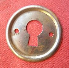 ancienne entrée de serrure art déco en fer 32mm