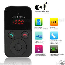 Wireless Bluetooth Auto MP3 Player FM Transmitter Modulator USB SD LCD Charger