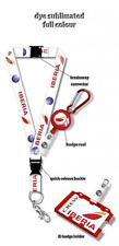 Iberia Logo Dye Sublimation Lanyard Set