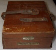 Ships Chronometer Wood Outer Box Only scarce Hamilton M 22 Wwii Usn