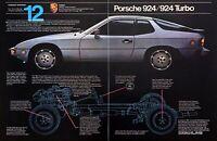 1980 Porsche 924/924 Turbo Coupe photo Look to the Future 2-page promo print ad