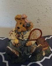 Boyds Bears & Friends 1990's Retired? Tennis Bear. Chrissie.Game, Set, Match!