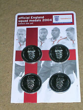 England Football Coins Sainsburys Euro's Championships 2004 World Cup 2018 New
