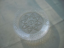 "ARCOROC LUMINARC CRISTAL D'ARQUES DURAND  CLEAR GLASS SALAD/ LUNCHEON PLATE 8"""