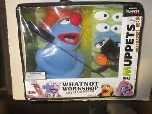 The Muppets WHATNOT WORKSHOP PUPPET- FAO Schwarz - Blue Body - w/STICK & Access