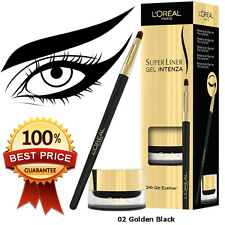 ☀️ NEW in Box L'Oreal Super Liner Gel Intenza Eyeliner, Golden Black 02, 2.8g