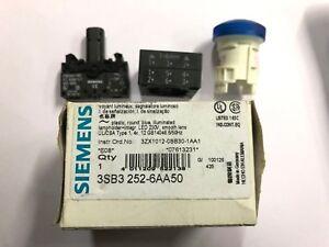 SIEMENS LED 22.5MM 230VOLT 3SB3252-6AA50 BLUE