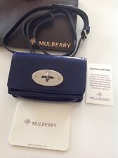 Mulberry Bayswater Mini Messenger For iPhone 4 Blue Patent Excellent Condition