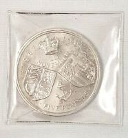 1997 Five Pounds Crown Coin 1947 - 1997 in cases 20th November £5 Collectable
