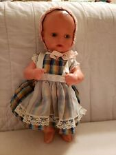 """12"""" Antique German Celluloid Baby Doll Turtle Mark 31 Fully Jointed."""