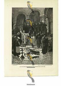 Excommunication In The 13thC, J J Scherrer, Book Illustration, 1885