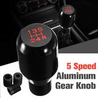 Universal MT Manual 5 Speed Gear Stick Shift Knob Shifter JDM Aluminum Black new