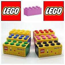 Lego mini box 8 rosa scatola mattoncino contenitore plastica per alimenti