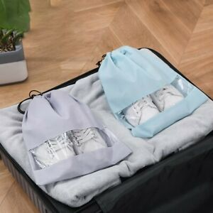 Portable Shoes Bags Travel Sport Storage Dustproof Pouch Drawstring Non-woven